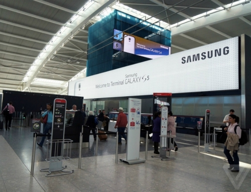 Samsung Galaxy S5 at Heathrow's T5
